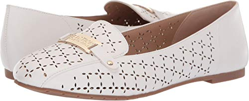 Kenneth Cole REACTION Women's Flash Perf White Synthetic 8.5 M US