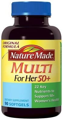Nature Made Multi For Her 50 With 22 Key Nutrients, 90 Softgels