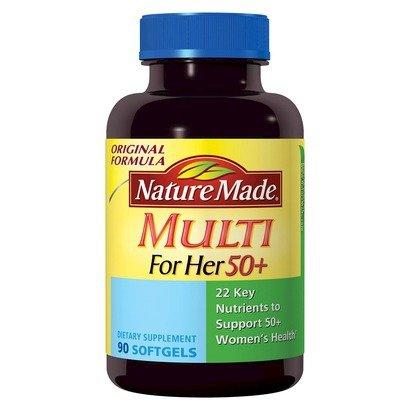 Природа Сделано нескольких Для женщин 50+ С 22 основных питательных веществ, 90 Softgels