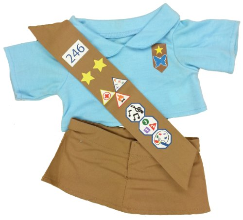 Girl Scout Costume Ideas (Girl Scout Blue Outfit Teddy Bear Clothes Outfit Fits Most 14