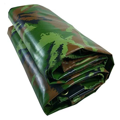ALLIWEI Green Camouflage Tarpaulin, PVC Double Waterproof with Eyelet Kit Large Cotton Canvas UV Protection Moistureproof Waterproof Rain Cover Durable Tarpaulin Board (Size : 5x5m) Doubles Kit Blue Camo