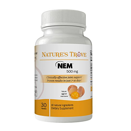 (Natural Eggshell Membrane (NEM) 500mg Joint Support by Nature's Trove - 30 Vegetarian Capsules )