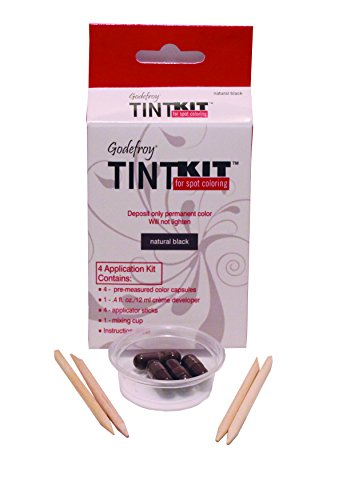 Natural Lash Kit - Godefroy 4 Applications Tint Kit, Natural Black