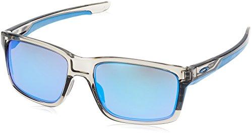 Oakley Men's OO9264 Mainlink Rectangular Sunglasses, Grey Ink/Sapphire Iridium, 57 ()