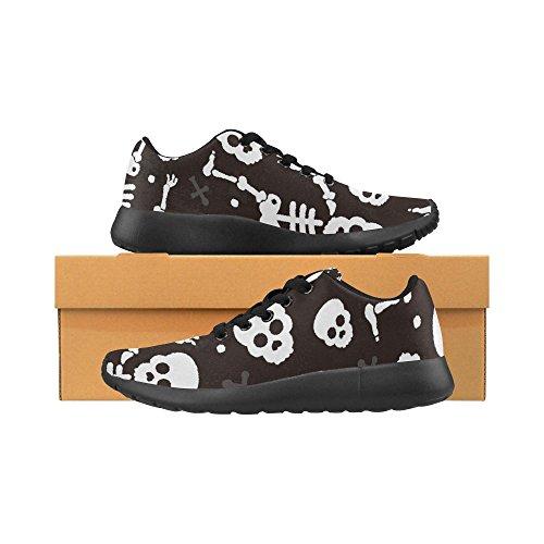 Scarpa Da Jogging Leggera Da Donna Interessante Corsa Leggera Easy Go Walking Comfort Sportivo Scarpe Da Ginnastica Morte Teschio Halloween Scheletro