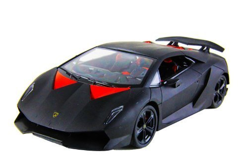 1/18 Scale Lamborghini Sesto Elemento Radio Remote Control Car Authentic Body Styling with Lights R/C Ready to Run (Black) by Midea Tech