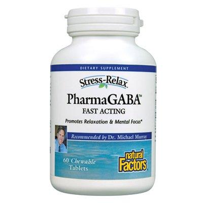 Natural Factors Stress-Relax Pharma Comprimés à croquer Gaba, 60-Count