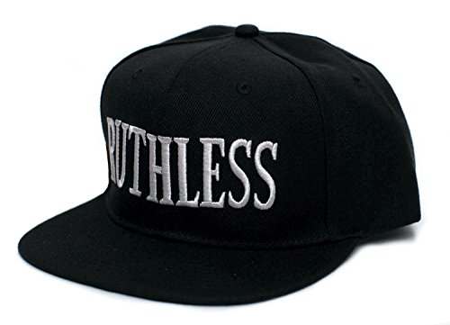 Ruthless Records Embroidered Vintage 90 s Adult One Size Flat Bill Hat Cap  Black 79f51b9ed0a1