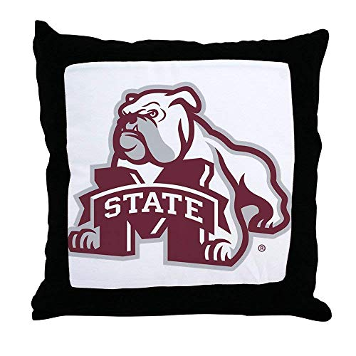 FiuFgyt Mississippi State Bulldog Logo Comfortable Pillow Cases Decorative Pillow Covers 18 x 18 Square