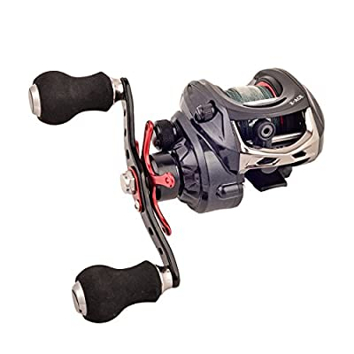 [Clearance Sale] BLISSWILL Kunting Baitcast Fishing Reel With Grey Braided Fishing Lines Left/ Right Handed 14+1BB 6.4:1 Carbon Fiber Magnetic Brake System Saltwater/Freshwater Approved by BLISSWILL