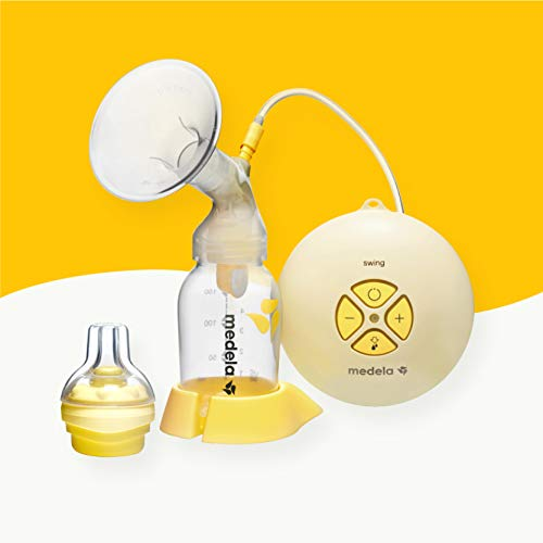 Medela, Swing, Single Electric Breast Pump, Compact and Lightweight Motor, 2-Phase Expression Technology, Convenient AC Adaptor or Battery Power, Single Pumping Kit, Easy to Use Vacuum Control (Best Breast Pump Settings)