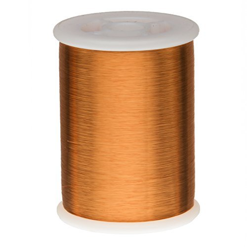 Remington Industries 43HFVP 43 AWG Heavy Build Magnet Wire, Heavy Formvar Copper Wire, 0.75 lb, 0.0026'' Diameter, 47378' Length, Amber