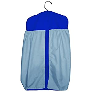 Baby Doll Solid Two Tone Diaper Stacker, Light Blue/Royal Blue