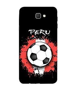 ColorKing Football Peru 03 Black shell case cover for Samsung J5 Prime
