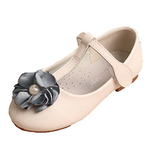 Ohmais Kinder Mädchen flach Freizeit Sandalen Sandaletten Kleinkinder Mädchen Halbschuhe Sandalette Ballerinas abricot