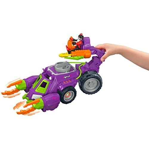 58a995a97ed1 new Imaginext dwv56 DC Super amigos el Joker y Harley Quinn batalla vehículo