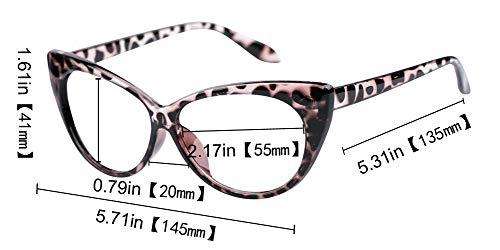 SOOLALA 3-Pair Value Pack Fashion Designer Cat Eye Reading Glasses for Womens, 1.5D by SOOLALA (Image #3)