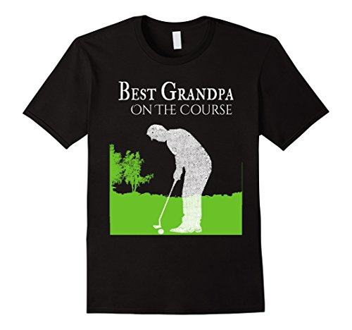 Mens Best Grandpa On The Course Golf Shirts for Men Gift for Dad XL Black