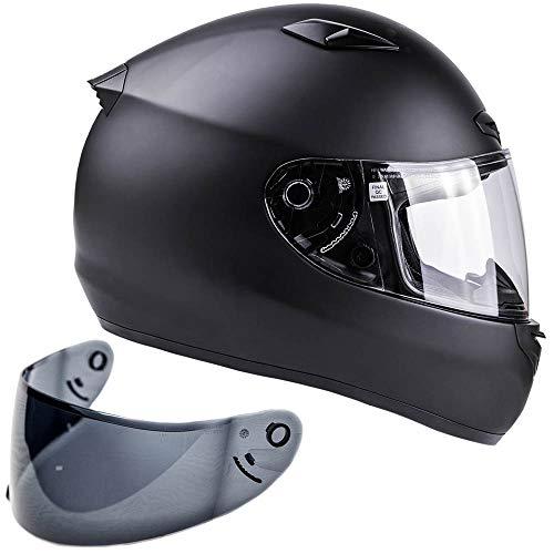 Snell M2015 Approved Full Face Motorcycle Helmet (Large - Matte Black) ()