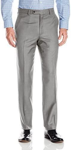 Linea Naturale Men/'s Flat Front Lightly Washed Stretch Cord Trouser