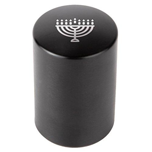 Hanukkah Menorah Automatic Bottle Opener - Laser Etched Design - Bottle Opener With Catcher - Fast Bottle Opener For Parties, Events Or Everyday - Menorah Laser