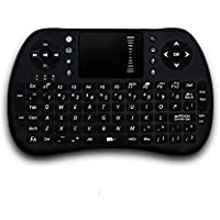 Mini 2.4GHz Wireless Touchpad Keyboard with Mouse for PC, PAD, XBox 360, PS3, Google Android TV Box, HTPC, IPTV (Black)