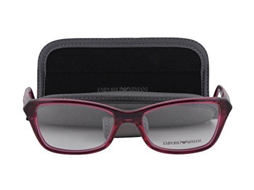 Emporio Armani EA3023 Eyeglasses 54-17-140 Transparent Cyclamen Pink w/Demo Clear Lens 5199 EA - Glasses Jessica Alba 2017