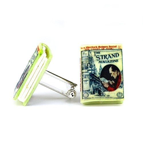 [Sherlock Holmes THE VALLEY OF FEAR Sir Arthur Conan Doyle Clay Mini Book Cufflinks by Book Beads] (Easy Guy Devil Costume)