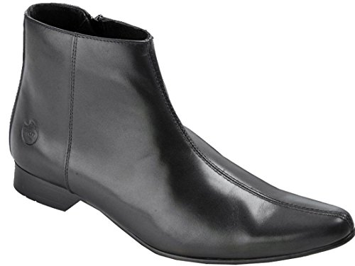 Robin Pointed Winklepicker Leather IKON Black Boots UK9 RqwffpxC