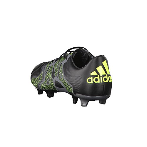 1 Negro Gris Amarillo Football X15 Leather Chaussures AG de Homme FG adidas 7z5vwz