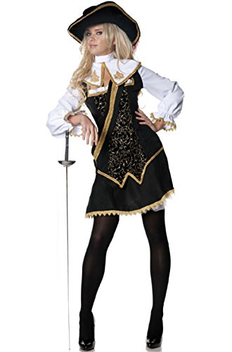 Musketeer Costume Female (Musketeers Women On Guard Outfit Adult Costume)