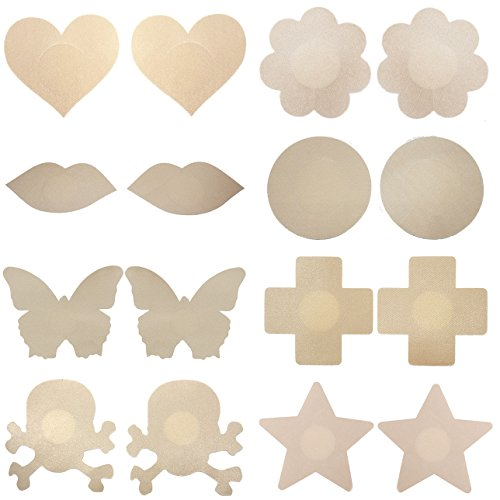 8 Pairs COSFAN Skin Disposable Pasties Nipple Cover Lingerie - Mix 1/2' Sch 80 Nipple