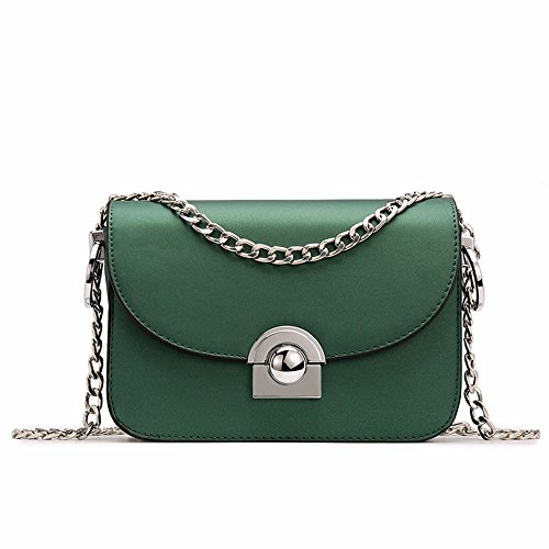 Nuevo bolso de hombro bolsa de cadena, jalea helado, Diagonal Plaza pequeña bolsa,Black Verde Negruzco