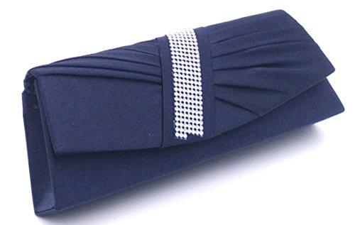 Femmes Bleu Plise party Y Mariage Different couleur choisir avec Portefeuille a Soiree Strass Pochette Ceremonies Sac pour Main Cloud de H5vBx66