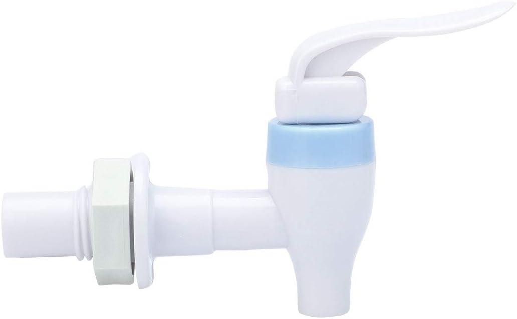 BUIDI 2 pi/èces Distributeur deau de Remplacement Type Poussoir Robinet en Plastique Blanc Robinet /électrom/énager