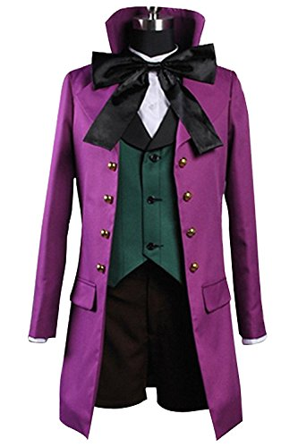 Ya-cos Kuroshitsuji Black Butler II 2 Alois Trancy Uniform Cosplay Costume Purple