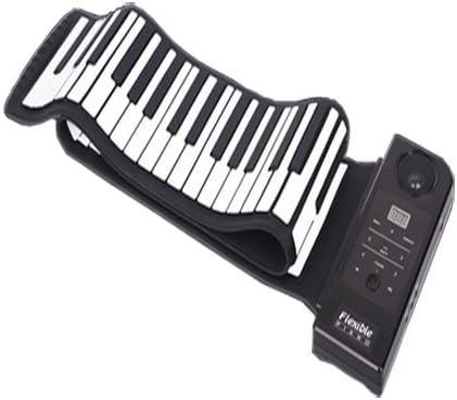 Sourcingbay Portátil 88 teclas enrollables teclado electrónico de silicona flexible Roll up teclado electrónico Piano con altavoz fuerte y pedal de ...