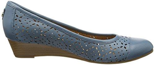 Blue Femme Sandale Van Compensée Dal Jeans Grantham q4wnxATOC
