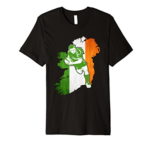 Jersey T-shirt Rugby (Mens Ireland Rugby Jersey 2017 | Ireland Rugby T Shirt Large Black)