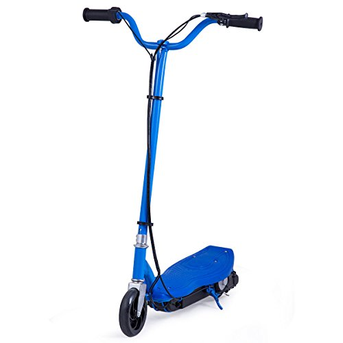 Costzon Electric Scooter, 24 Volt Motorized Scooter for Teens with Rechargeable Battery (Blue) (Kick Super 22')