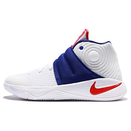 Nike Kyrie 2 GS (White/Red-Blue) USA (6.5 M US Big Kid) by NIKE