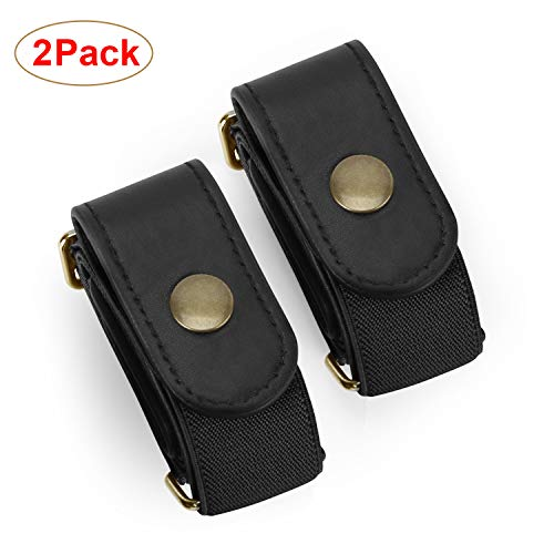 2 Pack No Buckle Stretch Belt For Women/Men Elastic Waist Belt Up to 48