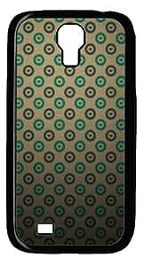 Heart Pattern Custom Samsung Galaxy I9500/Samsung Galaxy S4 Case Cover Polycarbonate Black