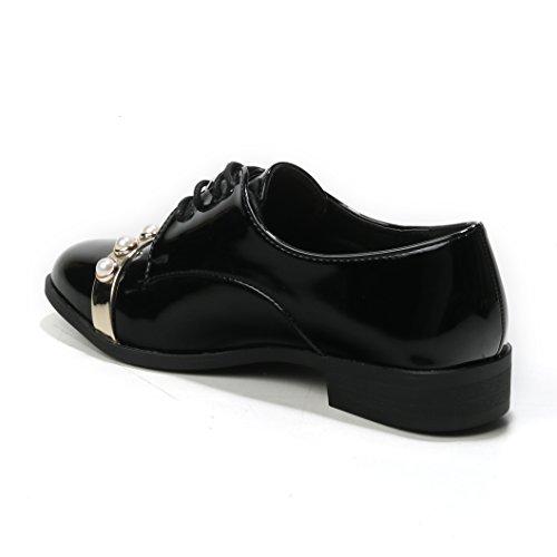 Noir Lacets Classique HERIXO Chaussures Coupe Femme à Et 0nESOHv