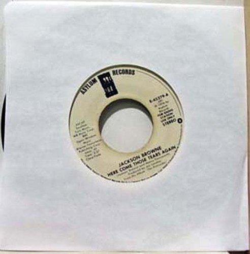 JACKSON BROWNE HERE COME THOSE TEARS AGAIN 45 rpm single (Jackson Browne Here Come Those Tears Again)