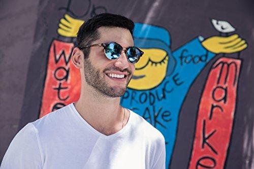 Miroitant Rétro Sunglasses 033 Hommes Cheapass Ca Femmes Clubmaster Marron zHTnFc