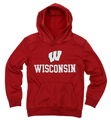 Outerstuff NCAA Big Boys Youth Performance Hoodie (8-18), Wisconsin Badgers by Outerstuff