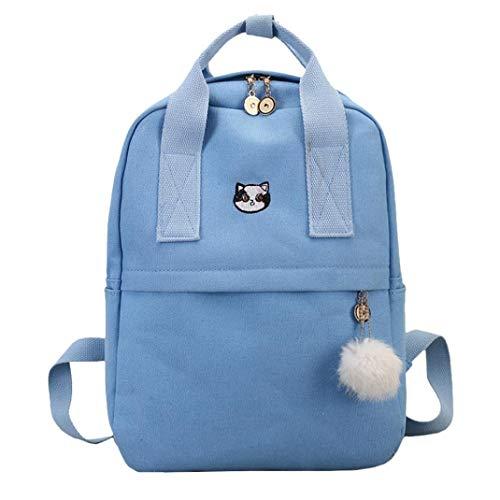 Clearance Students Backpack Rakkiss Vintage Tote Backpack Student Pure Color Leather Shoulder Bag School Bag (Miu Designer Miu Bags)