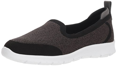 CLARKS Women's Step Allena Lo Loafer Flat, Dark Grey Mesh, 075 M US