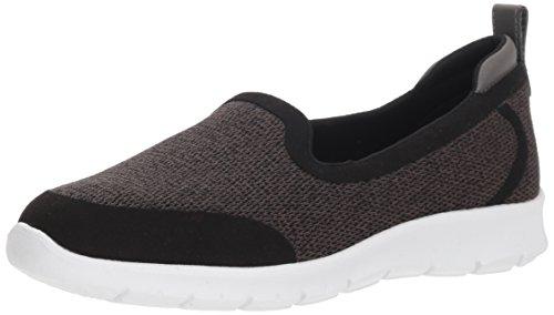 CLARKS Women's Step Allena Lo Loafer Flat, Dark Grey mesh, 065 W US